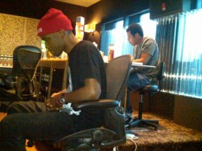 Jay-Z & Frank Ocean diligently at work