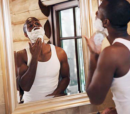 Black Man shaving!
